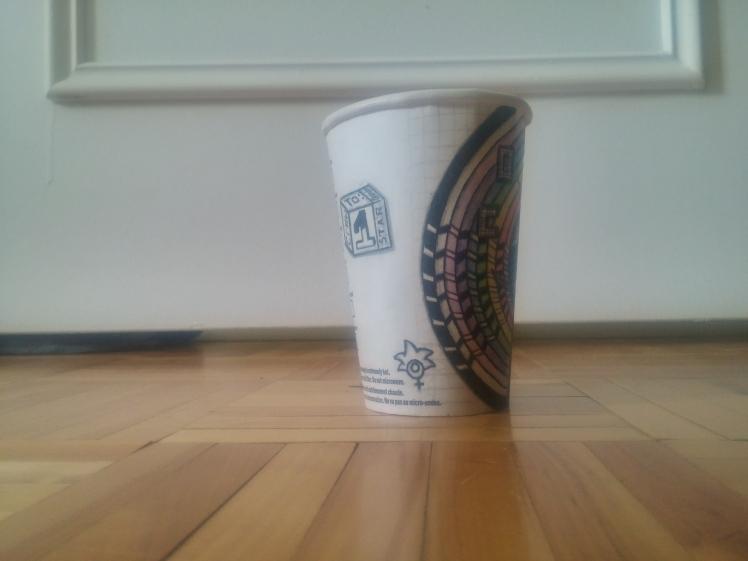 Starbucks cup doodle left side - BeHumanNotaZombie.com