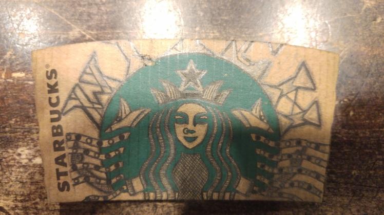 Starbucks Sleeve Doodle 2 - Starbucks Sleeve Doodle - BeHumanNotaZombie.com