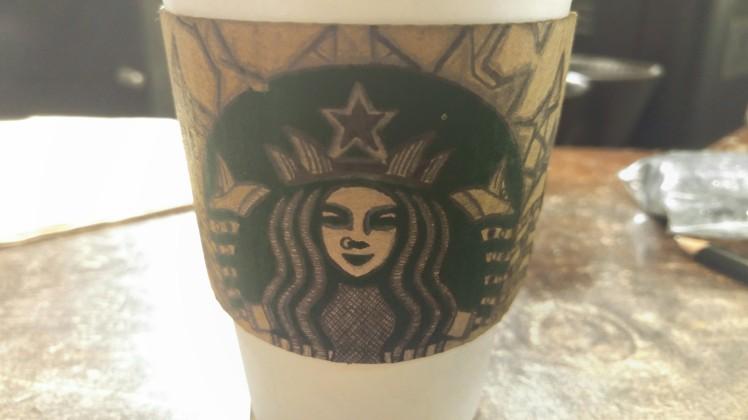 Starbucks Sleeve Doodle - BeHumanNotaZombie.com