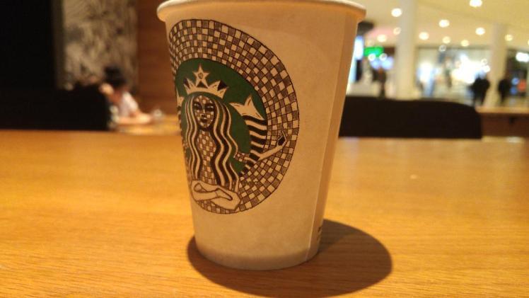 Starbucks doodle 3 - Merge - BeHumanNotaZombie.com