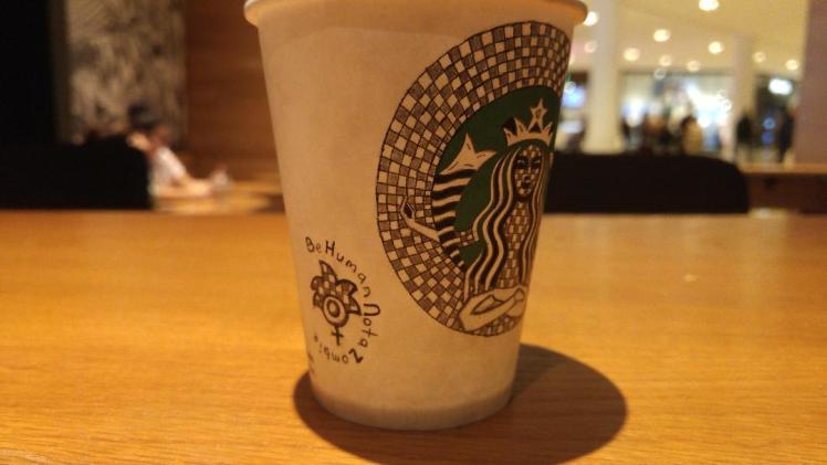Starbucks doodle 2 - Merge - BeHumanNotaZombie.com