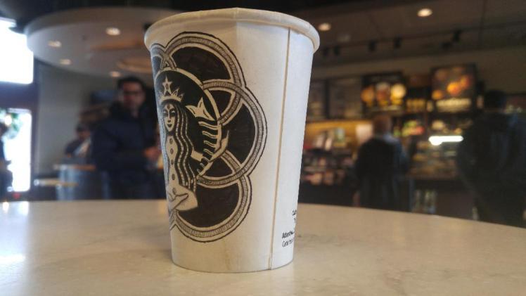 Starbucks doodle 3 - Chakras - BeHumanNotaZombie.com