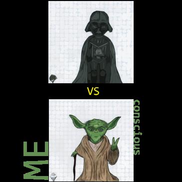 Vader (unconscious) vs Yoda (conscious) - BeHumanNotaZombie.com