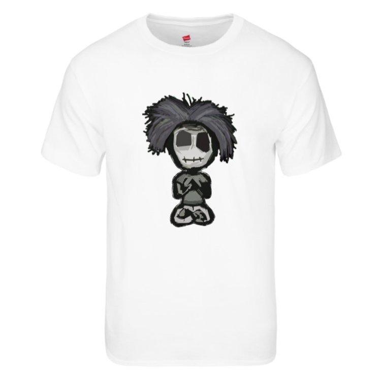 tagless men zombie tee white - Behumannotazombie.com