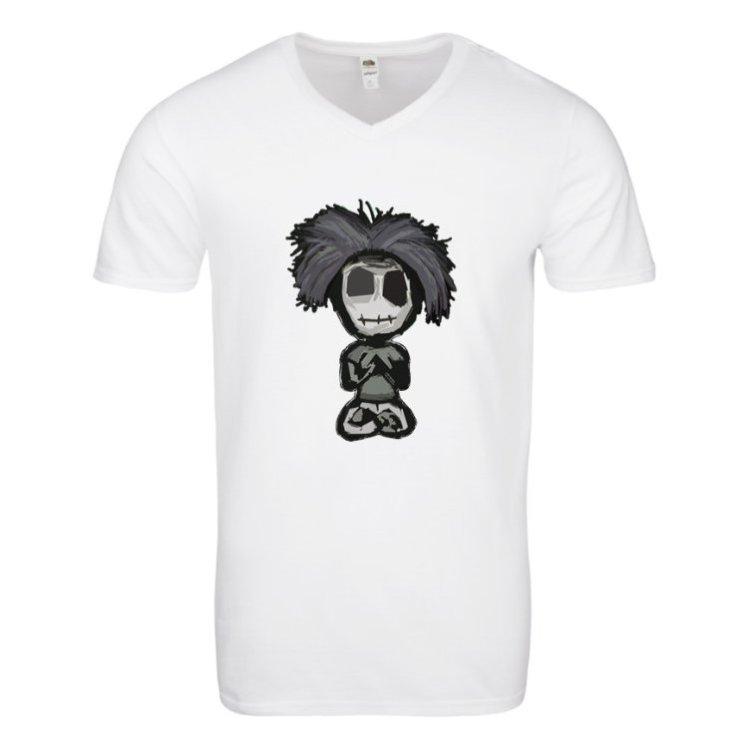 Zombie Tee - Men's V White - BeHumanNotaZombie.com