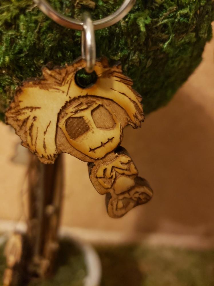 Zombie Keychain - BeHumanNotaZombie.com